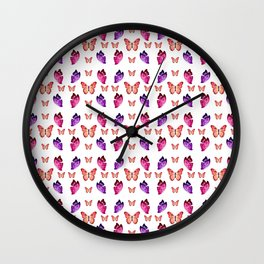 Butterflies Convention Wall Clock