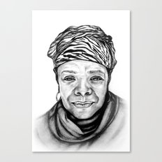 Maya Angelou - BW Original Sketch Canvas Print