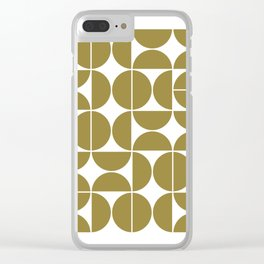 Mid Century Modern Geometric 04 Flat Gold Clear iPhone Case