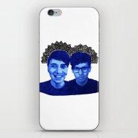 danisnotonfire iPhone & iPod Skins featuring AmazingPhil & Danisnotonfire by xzwillingex