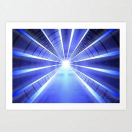 Galactic Light Corridor Art Print