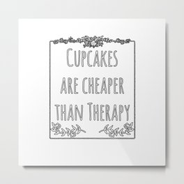 Cupcake Therapy Muffin Sprinkles Topping Sweet Cake Metal Print