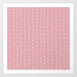 Pink Daisy Chain Art Print