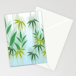 Lucky Bamboo Leaves Stationery Cards
