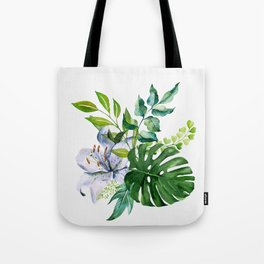 Flower and Leaves Tote Bag