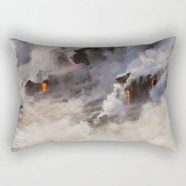 WATER MEETS LAVA Rectangular Pillow
