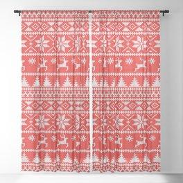 Fair Isle Christmas Sheer Curtain