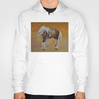 pony Hoodies featuring Gypsy Pony by Michael Creese