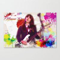 scandal Canvas Prints featuring Scandal Baby by Don Kuing