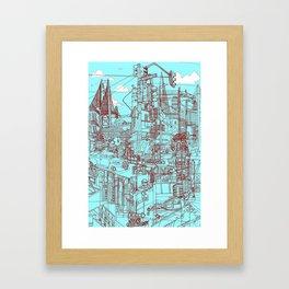 San Francisco! (Turquoise) Framed Art Print