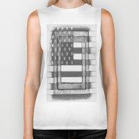 american flag Biker Tanks featuring American Flag by Steve Hester