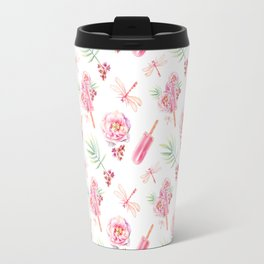 Hawaiian Dream Pop Pattern Travel Mug