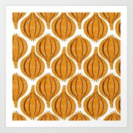 pattern onion Art Print