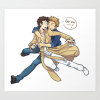 destiel Art Prints featuring Supernatural - Destiel by hudashick