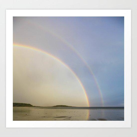 Double Promise (Rainbow Beach)  Art Print