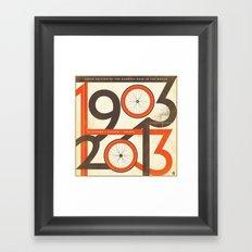 100 Years of The Tour de France Framed Art Print