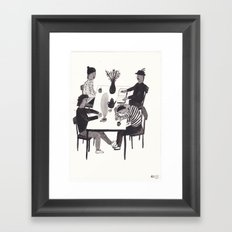 Table Situation Framed Art Print