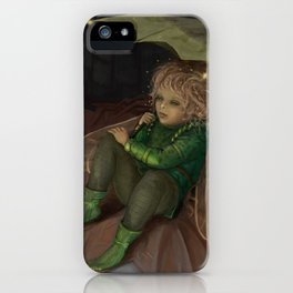 Autumn Elf under the magic umbrella iPhone Case