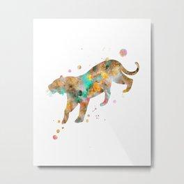 Bengal Tiger Watercolor Painting Metal Print