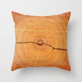 Split log Throw Pillow