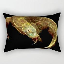 Komodo Dragon Fractal Rectangular Pillow