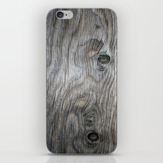 Real Aged Silver Wood iPhone & iPod Skin