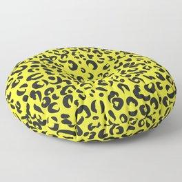Animal print,leopard,cheetah print,yellow background  Floor Pillow