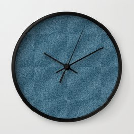 Jeans Textile Art - 11 Wall Clock