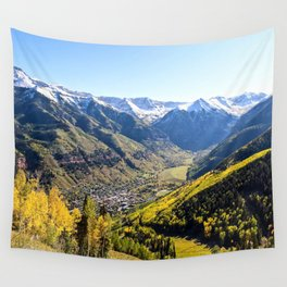 Overlooking Telluride in the Fall Wall Tapestry
