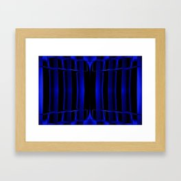 Playing in Blue Framed Art Print