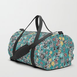 cloisonne flowers Duffle Bag