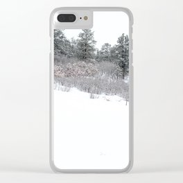 A Lone Picnic Table Clear iPhone Case