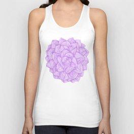 Purple flower, bohemian,elegant style. Unisex Tank Top