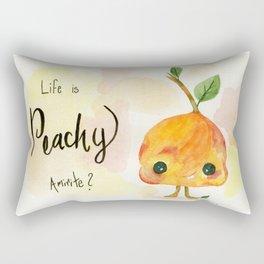 Life is Peachy Rectangular Pillow