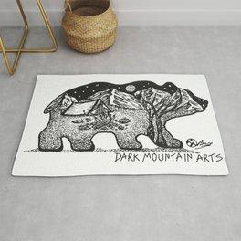 """Wander Bear"" Hand-Drawn by Dark Mountain Arts Rug"