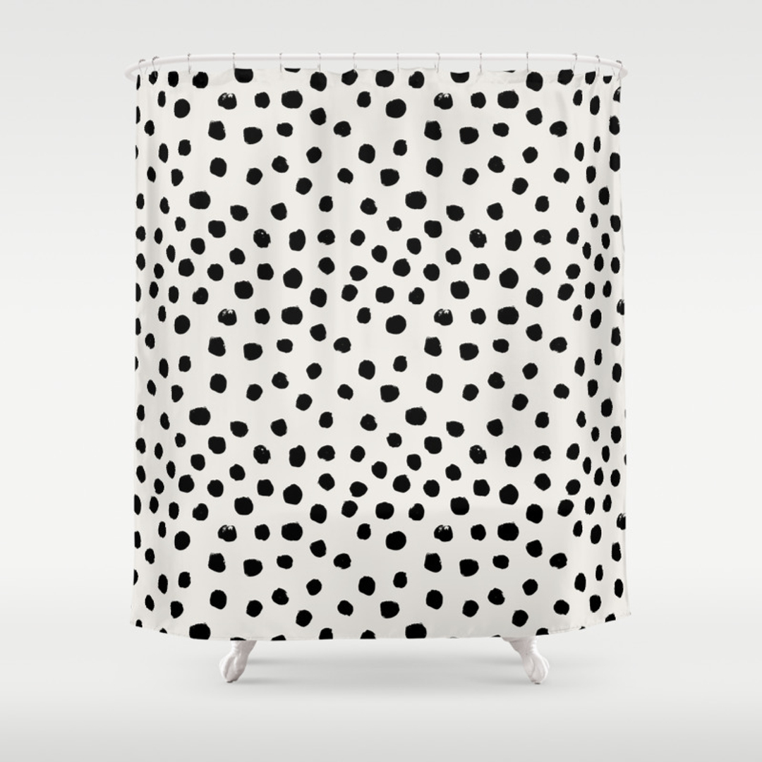 Pink and white polka dot curtains - Hot Pink Polka Dot Shower Curtain Hot Pink Polka Dot Shower Curtain 15