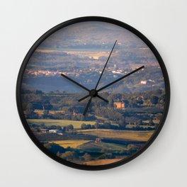 Italian countryside view Wall Clock