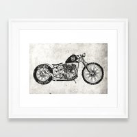 motorcycle Framed Art Prints featuring Motorcycle by Ricca Design Co.