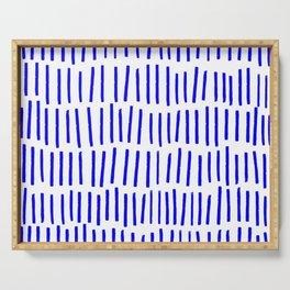 Blue Scandi Paint Print Serving Tray