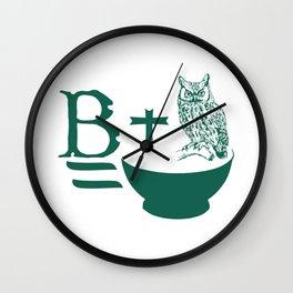 B Plus Owl is Bowl Wall Clock