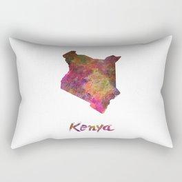Kenya in watercolor Rectangular Pillow
