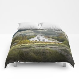 Old Mission Point Lighthouse in Early Autumn Comforters