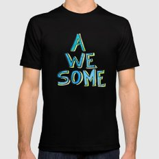 Awesome Black MEDIUM Mens Fitted Tee