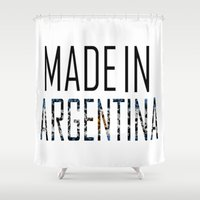 argentina Shower Curtains featuring Made In Argentina by VirgoSpice
