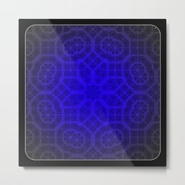 Blue Octogon Star Metal Print