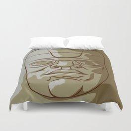 Olmeca Head Duvet Cover