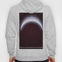 One small step for man, one giant leap for mankind space art. Hoody