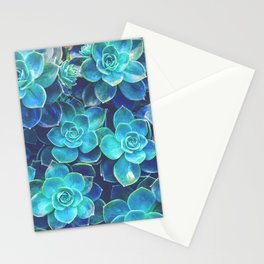 Green Succulents Stationery Cards