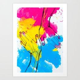 Flag of Love Art Print
