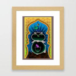 Boom Boom's Halo Framed Art Print